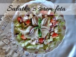 Sałatka z serem Feta, pomidorem i ogórkiem