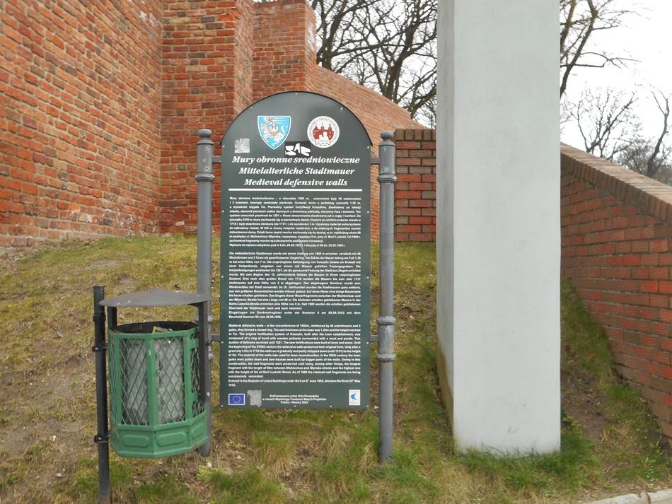 Fragment murów obronnych w Koszalinie