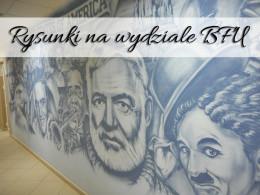 Rysunki na wydziale BFU w Kaliningradzie. Darmowa atrakcja miasta