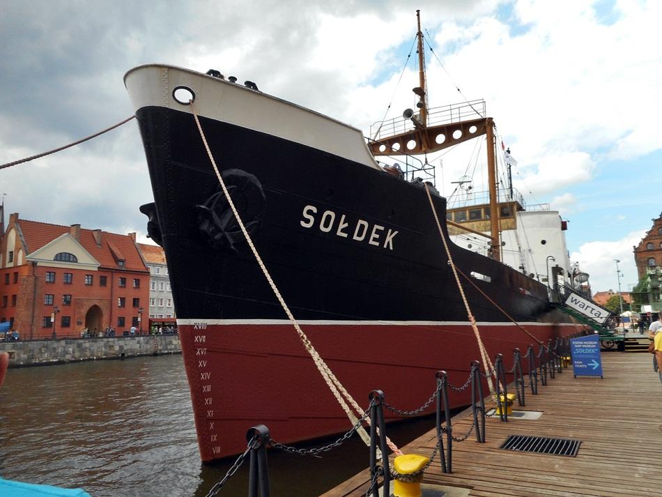 Statek Sołdek w Gdańsku