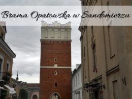 Brama Opatowska w Sandomierzu. Ogląd na miasto z wieży widokowej