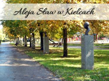 Aleja Sław w Kielcach. Mnóstwo popiersi znanych osób w jednym miejscu