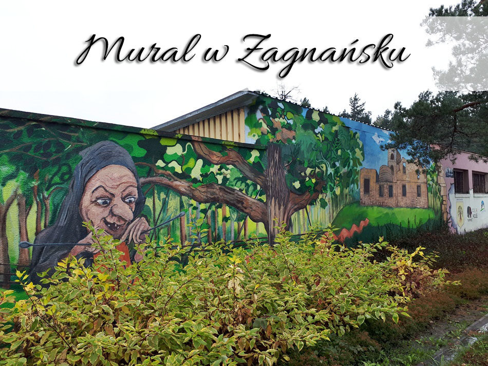 Mural w Zagnańsku