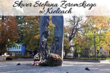Skwer Stefana Żeromskiego w Kielcach. Bardzo blisko Muzeum Zabawek i Zabawy