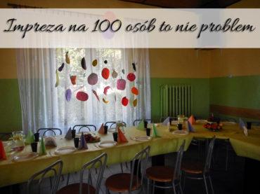 Impreza na 100 osób to nie problem. Wiele zależy od tego, jak szybko zaczniesz przygotowania i co podasz do jedzenia