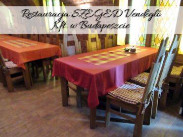 Restauracja SZEGED Vendéglő Kft. w Budapeszcie. Przepiękna muzyka na żywo
