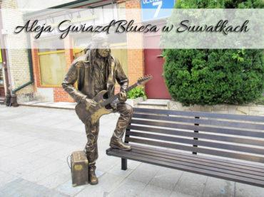 Aleja Gwiazd Bluesa w Suwałkach. Bardzo blisko centrum miasta