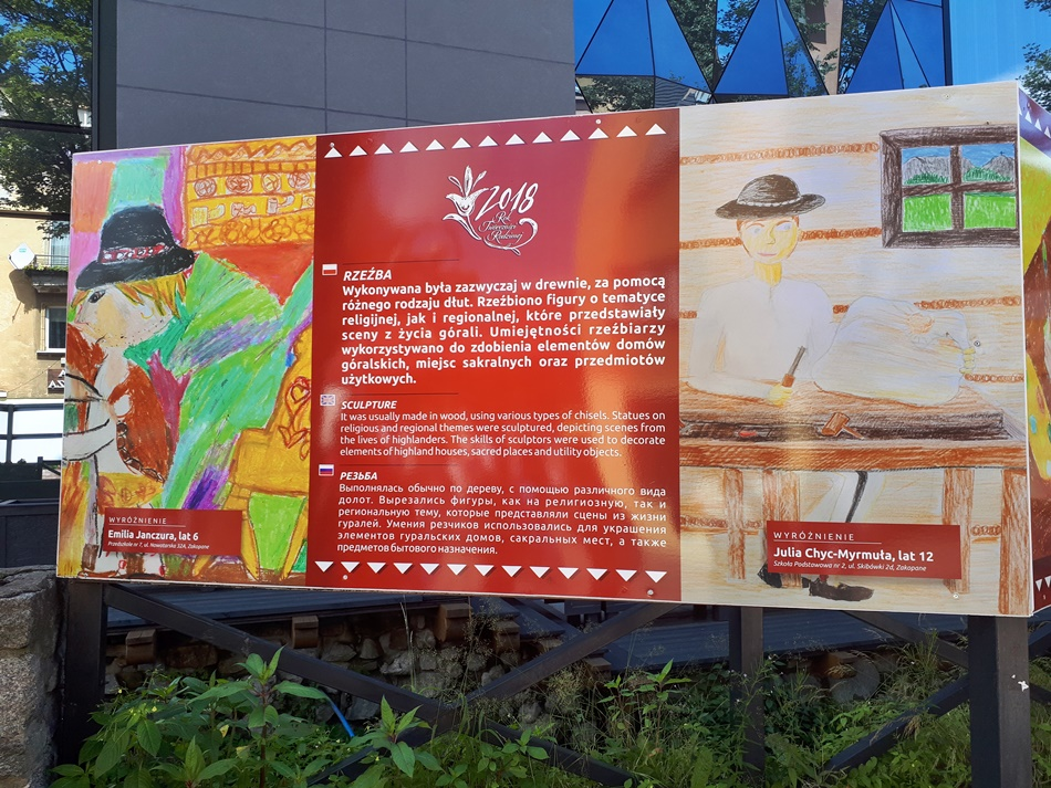 Wystawa Rok Twórczości Rodzimej Okiem Dziecka w Zakopanem