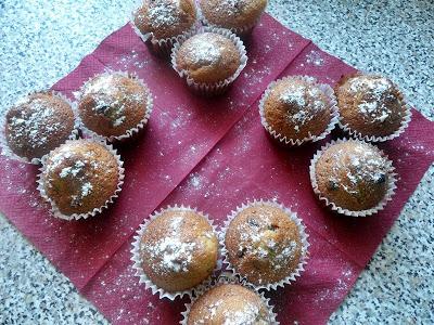 Waniliowe muffiny z żurawiną