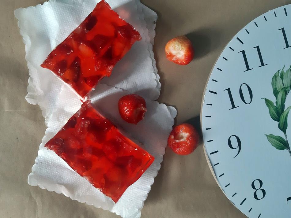 Ciasto z masą serowo-truskawkową