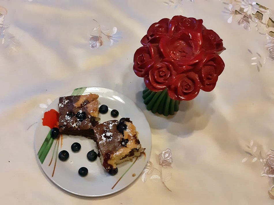 Ciasto na wagę z borówkami