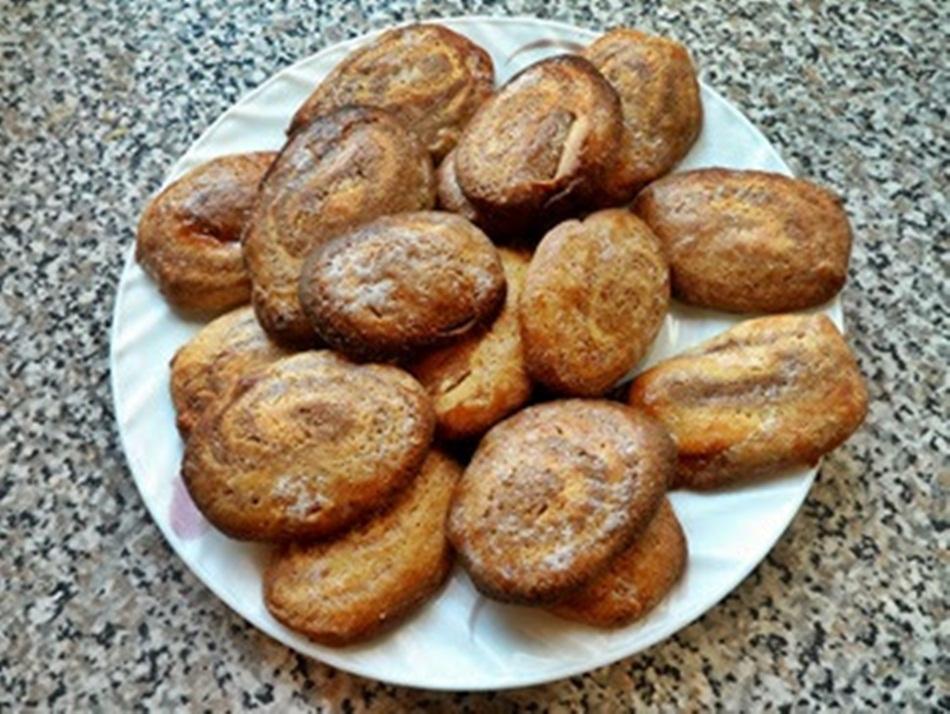 Ślimaczki waniliowo-kakaowe z kruchego ciasta